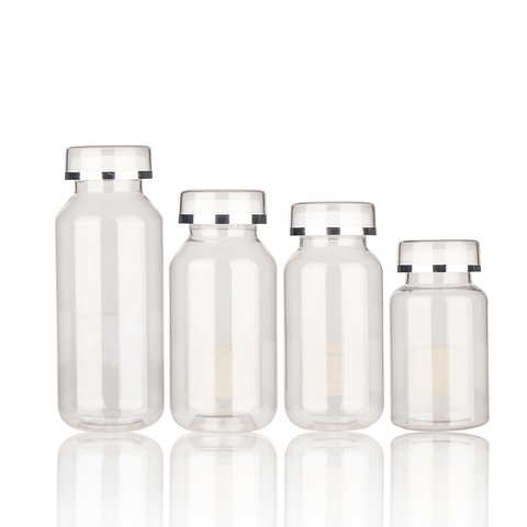 Customizable Transparent Round Medicine Bottle