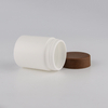 Gensyu White Soft Touch Canister With Cork Cap BPA Free Pills Capsule Bottle
